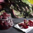 Pieces of juicy beets — Stock Photo