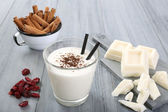 White chocolate milkshake — Zdjęcie stockowe
