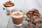 Chocolate smoothie — Stock Photo