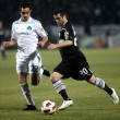 Football match between PAOK F.C. and PANATHINAIKOS F.C. — Stock Photo