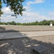 Dachau-foundations of barracks and field extension — Stock Photo