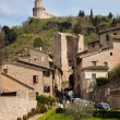 View from the fortress-assisi basilica — Stock Photo