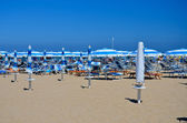 Rimini beach - umbrellas 2 — Stock Photo
