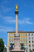 Mariensäule, Column of the Virgin Mary — Stock Photo