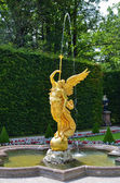 Statue of angel fountain, Linderhof Germany — Stock Photo