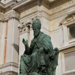 Sanctuary of Loreto statue of the pope 2 — Stock Photo