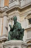 Santuario de loreto estatua del papa 2 — Foto de Stock