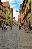 Rothenburg ob der tauber, corso principale — Foto Stock