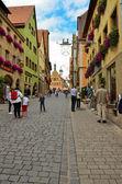 Rothenburg ob der tauber, curso principal — Foto de Stock