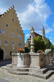 Rothenburg ob der Tauber, Fountain 1 — Stock Photo