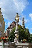 Rothenburg ob der Tauber, Fountain 2 — Foto Stock