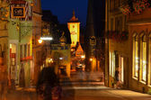 Rothenburg ob der Tauber, night view 2 — Stock Photo