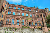 Heidelberg, the facade of ruins of the castle 1 — Stock Photo
