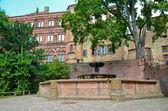 海德堡城堡喷泉 — 图库照片