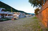 Heidelberg, along the bank of the river — Foto de Stock