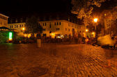 Freiburg, Augustinerplatz in the night — Stock Photo
