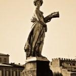 Representation of the summer, Ponte Santa Trinita, Florence — Stock Photo