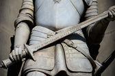 Dettaglio di una statua, uffizi firenze — Foto Stock