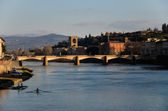 Lungarno in Florence — Stock Photo