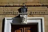 Coat of arms at the entrance of the Medici Chapels, Florence — Stock Photo