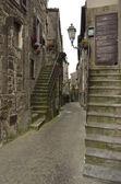 Medieval street, Bomarzo — Stock Photo