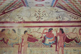 -Etruscan tomb with frescoes, Tarquinia 3 — Stock Photo