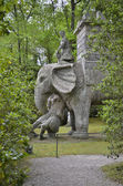 The statue of the Elephant, Bomarzo — Stok fotoğraf
