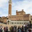 Municipal Building and square of camp, Siena 2 — Stock Photo