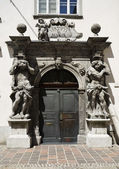 -Door with frame Baroque, Ljubljana — 图库照片