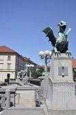 Dragon Bridge, Ljubljana 3 — Stock Photo