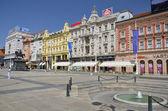 Ban Jelacic Square, Zagreb — Stock Photo