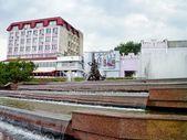Fountain Sadko in summer, Sumy, Ukraine — Stock Photo