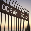 Ocean Beach sunset, San Diego - Stock Photo