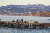 Fishermen at Marina Grande (big), Sorrento, Italy — Stockfoto