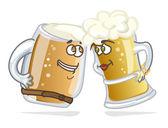 Cartoon hero beer tankard — Stock Vector