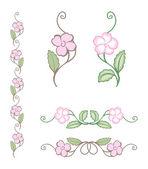 Delikatny kwiat ornament — Wektor stockowy