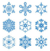 Original snowflakes set — Stock Vector