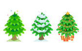 Spruce in the summer and winter and christmas — Stock Vector