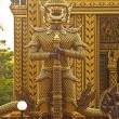 Golden warrior in buddhist temple, Thailand, Hua-Hin — Stock Photo