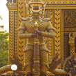 Stock Photo: Golden warrior in buddhist temple, Thailand, Hua-Hin