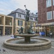 Memorial and fountain of Nils Holgerssons with goose — Stockfoto #12289266