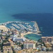 Bird's-eye view on the beach of the island Mallorca, town Palma-de-Mallorca — Stock Photo