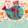 Background with fish — Stock Vector #12717915