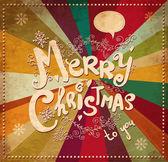 Vintage χριστουγεννιάτικη κάρτα — Διανυσματικό Αρχείο