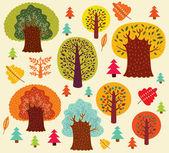 Höstens seamless mönster — Stockvektor