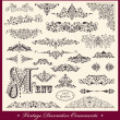 Vector set of Vintage Ornaments and Design Elements — Stock Vector #12876846
