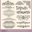 Vector set of Vintage Ornaments and Design Elements — Stock Vector #12877324