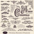 Stock Vector: Vector set of Vintage Ornaments and Design Elements
