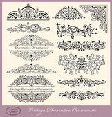 Jeu de vintage ornements et éléments graphiques vectorielles — Vecteur