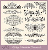 Vector set of Vintage Ornaments and Design Elements — Vecteur